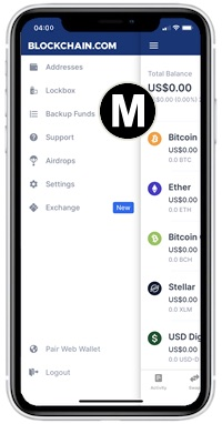 blockchain app backup funds