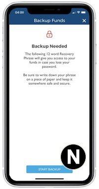 blockchain app start backup