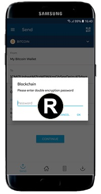 blockchain wallet second password