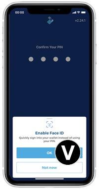 blockchain wallet face ID
