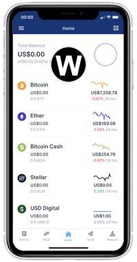 blockchain wallet home screen