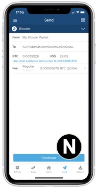 send bitcoin blockchain wallet
