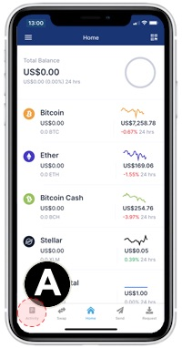blockchain app wallet transactions